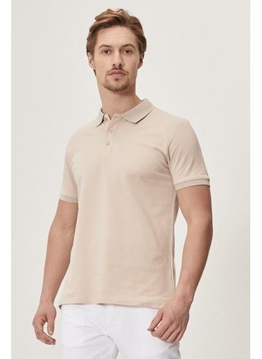 Altınyıldız Classics Polo Yaka Cepsiz Slim Fit Dar Kesim %100 Koton Düz Tişört 4A4820200001 Hardal